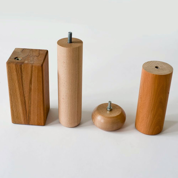 Solid wood furniture components